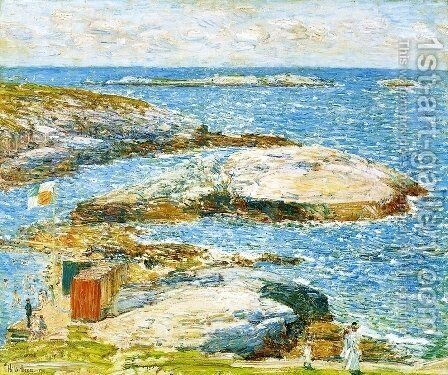 Bathing Pool, Appledore by Childe Hassam - Reproduction Oil Painting