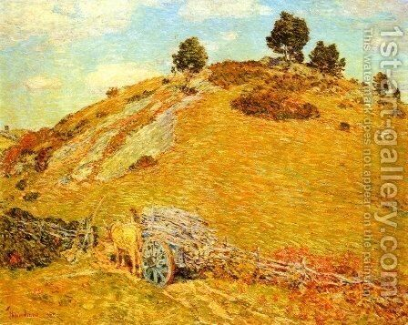 Bornero Hill, Old Lyme, Connecticut by Childe Hassam - Reproduction Oil Painting
