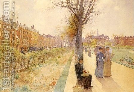 Boston Common by Childe Hassam - Reproduction Oil Painting