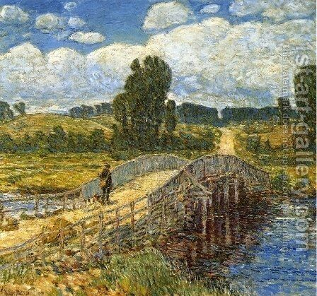 Bridge at Old Lyme by Childe Hassam - Reproduction Oil Painting