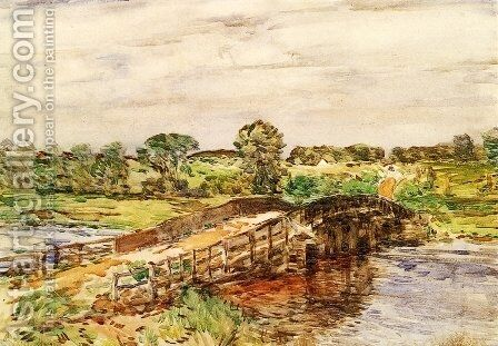Bridge at Old Lyme 2 by Childe Hassam - Reproduction Oil Painting