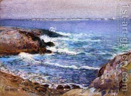 Cannon Beach, Oregon by Childe Hassam - Reproduction Oil Painting