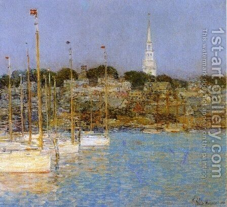 Cat Boats, Newport by Childe Hassam - Reproduction Oil Painting