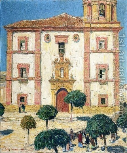 Cathedral at Ronda by Childe Hassam - Reproduction Oil Painting