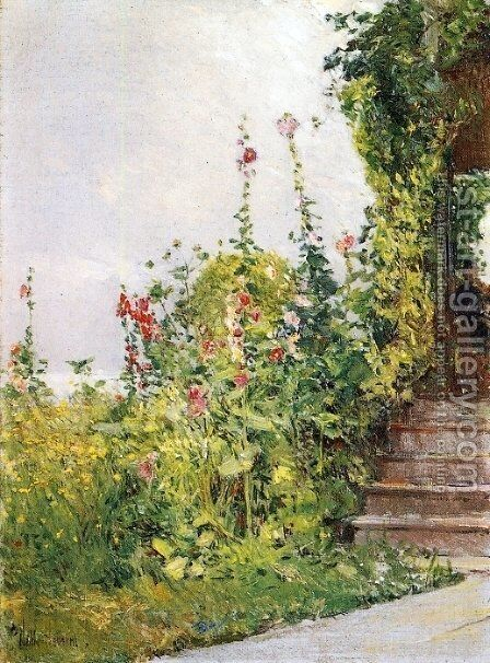 Celia Thaxter's Garden, Appledore, Isles of Shoals by Childe Hassam - Reproduction Oil Painting