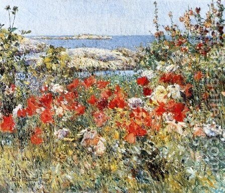 Celia thaxter's Garden, Isles of Shoals, Maine by Childe Hassam - Reproduction Oil Painting