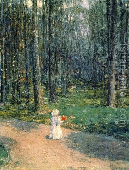 Central Park by Childe Hassam - Reproduction Oil Painting