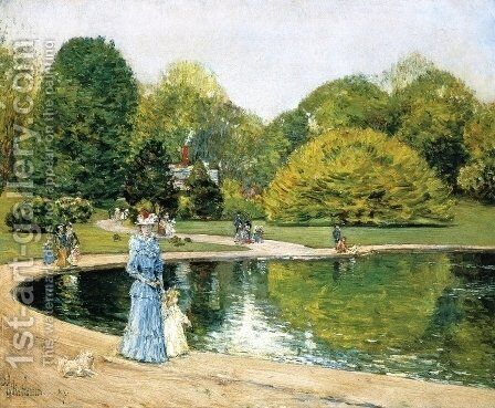 Central Park 2 by Childe Hassam - Reproduction Oil Painting