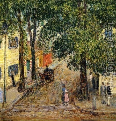 Duke Street, Newport by Childe Hassam - Reproduction Oil Painting
