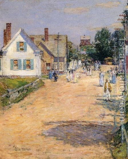 East Gloucester, End of Trolly Line by Childe Hassam - Reproduction Oil Painting