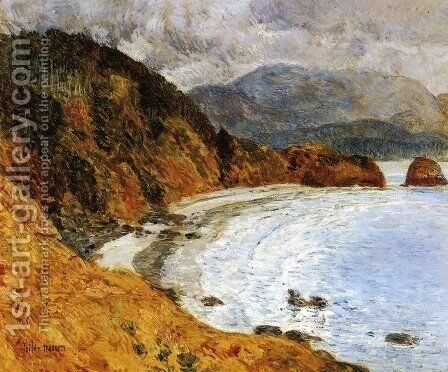 Ecola Beach, Oregon by Childe Hassam - Reproduction Oil Painting
