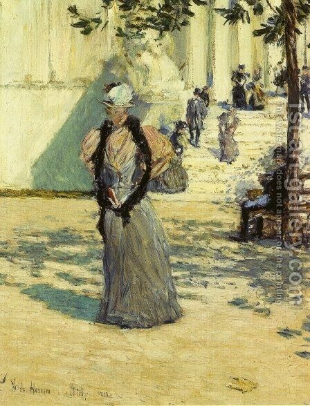 Figures in Sunlight by Childe Hassam - Reproduction Oil Painting