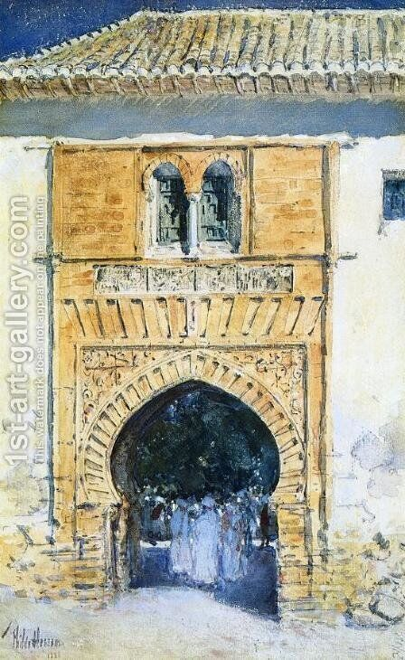 Gate of The Alhambra by Childe Hassam - Reproduction Oil Painting