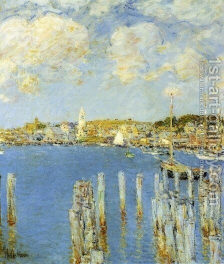 Gloucester Inner Harbor by Childe Hassam - Reproduction Oil Painting