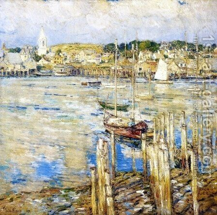Gloucester by Childe Hassam - Reproduction Oil Painting