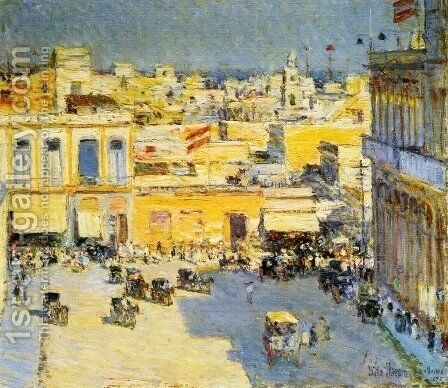 Havana by Childe Hassam - Reproduction Oil Painting