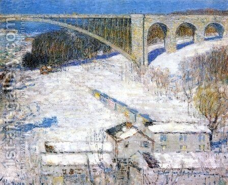 High Bridge by Childe Hassam - Reproduction Oil Painting