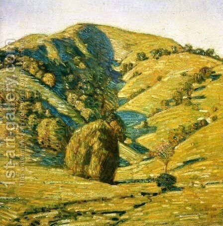 Hill of the Sun, San Anselmo, California by Childe Hassam - Reproduction Oil Painting