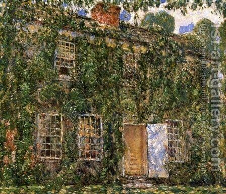 Home Sweet Home Cottage, East Hampton by Childe Hassam - Reproduction Oil Painting