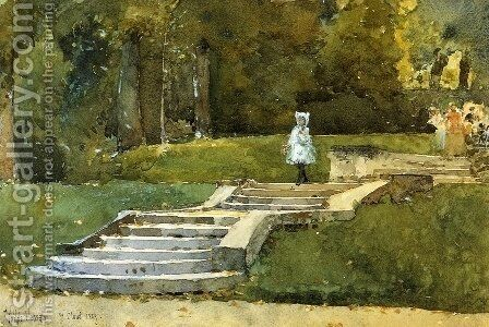 In the Park at St. Cloud by Childe Hassam - Reproduction Oil Painting