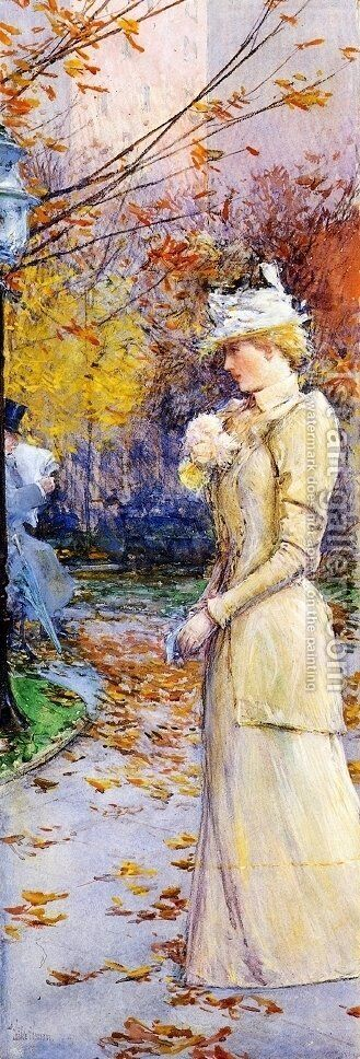 Indian Summer in Madison Square by Childe Hassam - Reproduction Oil Painting