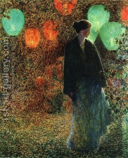 July Night by Childe Hassam - Reproduction Oil Painting