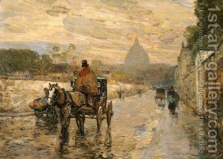 La Val du Grace, Spring Morning by Childe Hassam - Reproduction Oil Painting