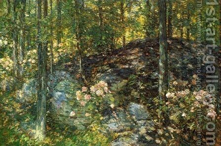 Laurel on the Ledges by Childe Hassam - Reproduction Oil Painting