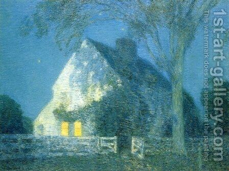 Moolight, the Old House by Childe Hassam - Reproduction Oil Painting