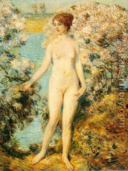 Morning, Old Lyme by Childe Hassam - Reproduction Oil Painting