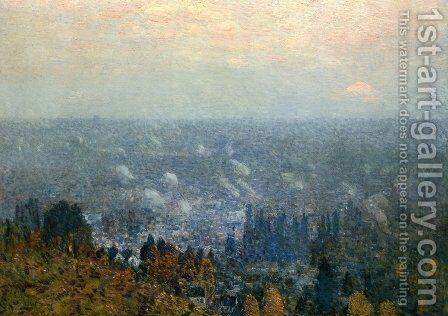 Mount Hood and the Valley of the Willamette by Childe Hassam - Reproduction Oil Painting