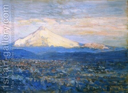 Mount Hood by Childe Hassam - Reproduction Oil Painting