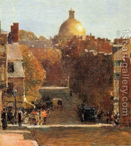 Mount Vernon Street, Boston by Childe Hassam - Reproduction Oil Painting