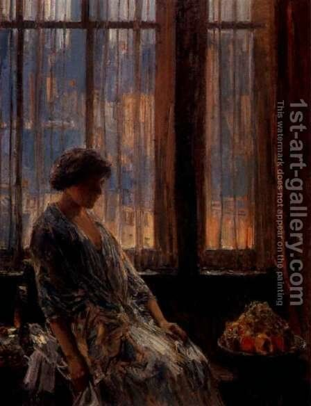 New York Window by Childe Hassam - Reproduction Oil Painting