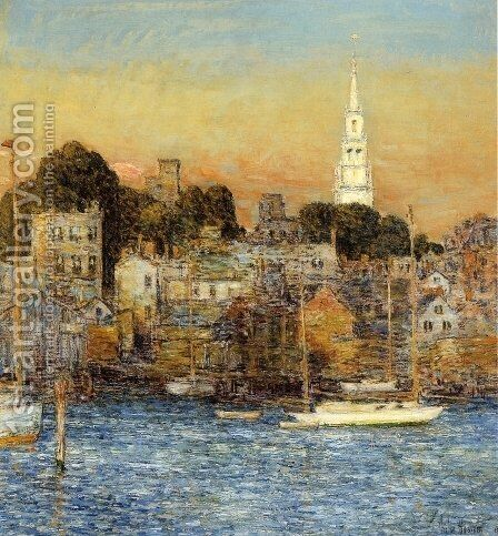Newport, October Sundown by Childe Hassam - Reproduction Oil Painting