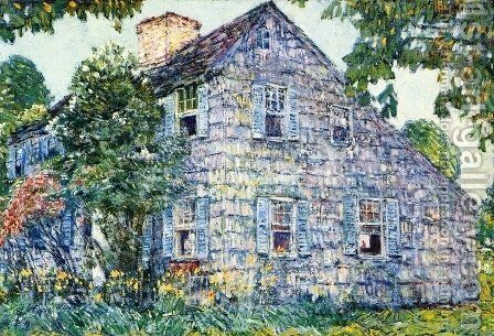 Old House, East Hampton by Childe Hassam - Reproduction Oil Painting