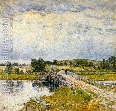 Old Lyme Bridge by Childe Hassam - Reproduction Oil Painting