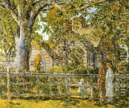 Old Mumford House, Easthampton by Childe Hassam - Reproduction Oil Painting