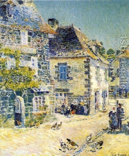Pont-Aven, Noon Day by Childe Hassam - Reproduction Oil Painting
