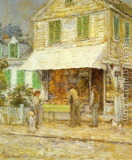 Provincetown Grocery Store by Childe Hassam - Reproduction Oil Painting