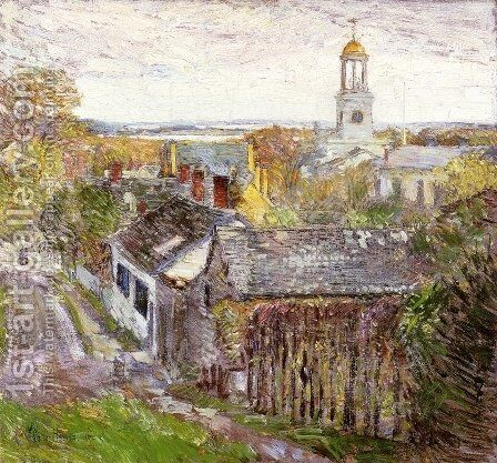 Quincy, Massachusetts by Childe Hassam - Reproduction Oil Painting
