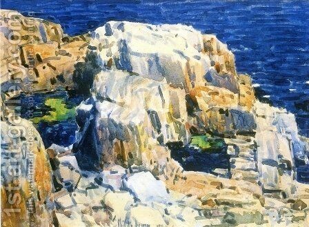 Rocks at Appledore by Childe Hassam - Reproduction Oil Painting