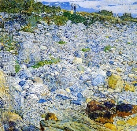 Rocky Beach, Appledore by Childe Hassam - Reproduction Oil Painting