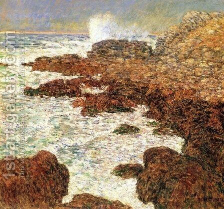 Seaweed and Surf, Appledore by Childe Hassam - Reproduction Oil Painting