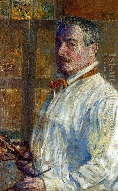 Self Portrait by Childe Hassam - Reproduction Oil Painting