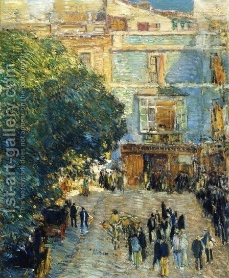 Square at Sevilla by Childe Hassam - Reproduction Oil Painting