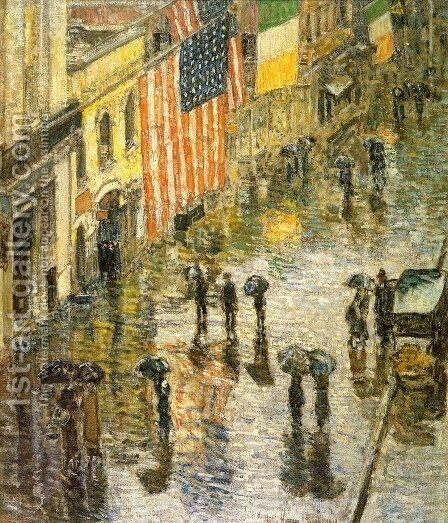 St. Patrick's Day, 1919 by Childe Hassam - Reproduction Oil Painting