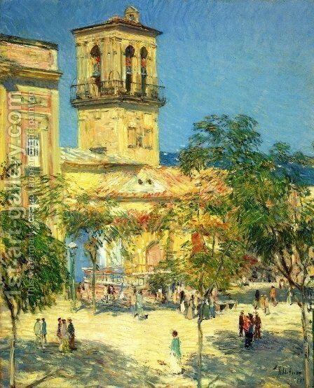 Street of the Great Captain, Cordoba by Childe Hassam - Reproduction Oil Painting