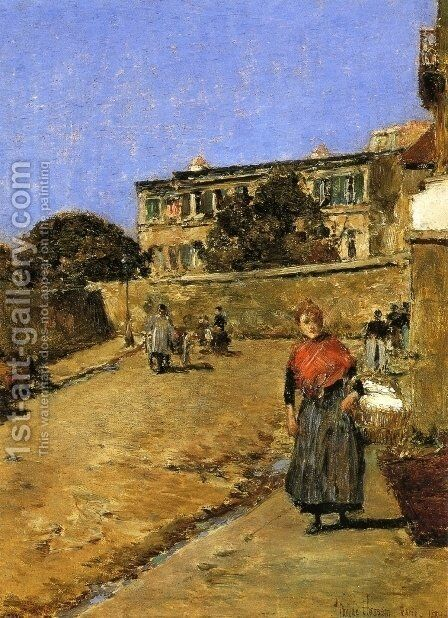 Street Scene, Montmartre by Childe Hassam - Reproduction Oil Painting