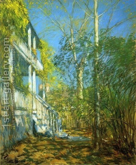 Summer at Cos Cob by Childe Hassam - Reproduction Oil Painting